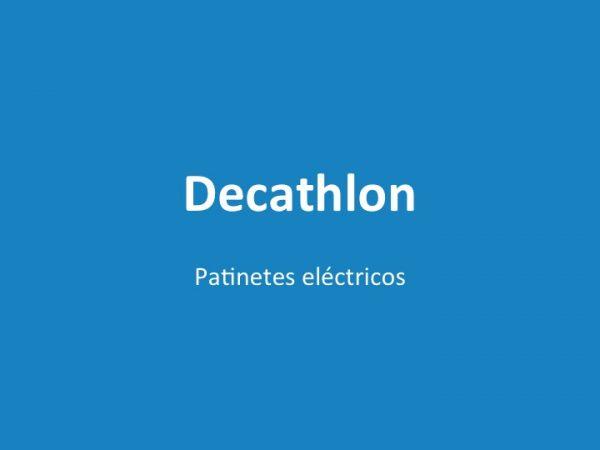 Patinetes eléctricos Decathlon